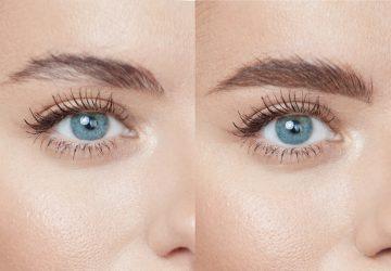 Sammenligning af før og efter permanent makeup